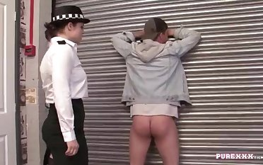 UNSPOILED HARDCORE FILMS Pounding a buxomy police dame for no excellent