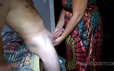 Mature blondie doll, Mrs Baldwin is hotwife on her hubby, with a neighbor she luvs